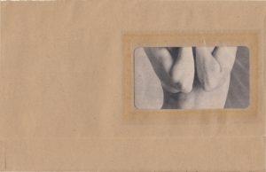 Artwork collage nude cake